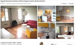Annonce Airbnb Rochefort